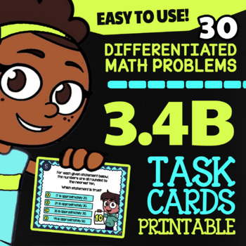 Math TEK 3.4B ★ Rounding & Estimating ★ 3rd Grade Math STAAR Review Task Cards