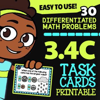 3.4C Counting Money ★ Math TEK 3.4C ★  3rd Grade STAAR Math Word Problems