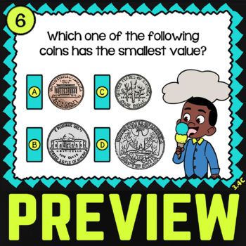 Math TEK 3.4C ★ Counting Money ★ 3rd Grade Task Cards