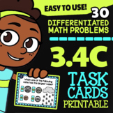 Math TEK 3.4C ★ Counting Money ★ 3rd Grade Math STAAR Practice Task Cards