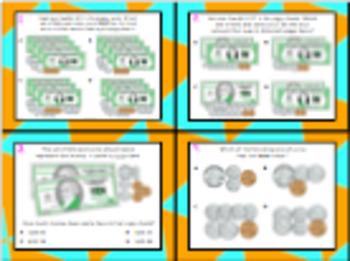 3.4C (DECK 2): Counting Money STAAR Test Prep Task Cards! (GRADE 3)