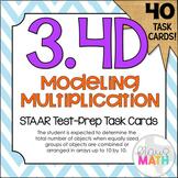 3.4D: Model Multiplication with Arrays STAAR Test Prep Task Cards (3.OA.1)