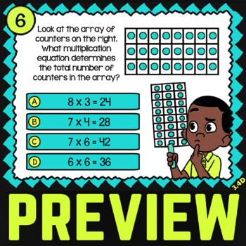 3.4D Math ★ MULTIPLICATION with ARRAYS ★ Math TEK 3.4D ★ 3rd Grade STAAR Review