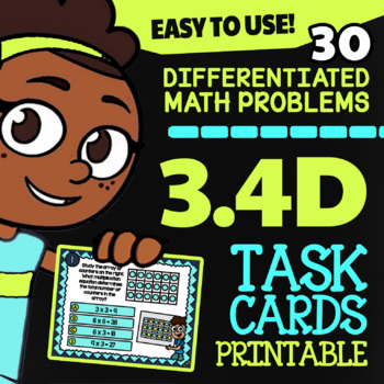 3.4D Math ★ MULTIPLICATION with ARRAYS ★ Math TEK 3.4D ★ 3rd Grade STAAR Review