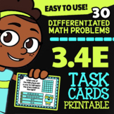 Math TEK 3.4E ★ Multiplication with Models ★ 3rd Grade Task Cards