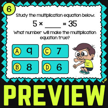 3.4F: Multiplication & Division ★ 3rd Grade TEKS Task Cards ★ STAAR Math Review