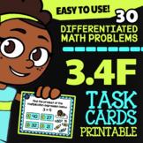 Math TEK 3.4F ★ Multiplication & Division ★ 3rd Grade STAAR Math Task Cards