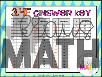 3.4F: Multiplication and Division Facts STAAR Test-Prep Task Cards (GRADE 3)