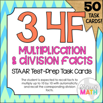 3.4F: Multiplication and Division Facts STAAR Test-Prep Ta