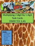 3.4G Multiplying 2 digit by 1 digit Task Cards