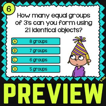 3.4H Math ★ EQUAL GROUPING ★ Math TEK 3.4H ★ 3rd Grade STAAR Math Task Cards