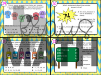 3.4I: Even & Odd Numbers STAAR Test-Prep Task Cards (GRADE 3)