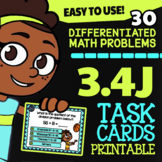Math TEK 3.4J ★ Relating Multiplication to Division ★ 3rd Grade Task Cards