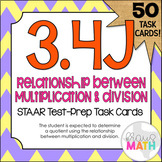 3.4J: Relating Multiplication and Division STAAR Test Prep Task Cards (GRADE 3)