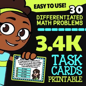 3.4K Multiplication & Division Using Models ★ 3rd Grade Math TEK 3.4K ★ STAAR