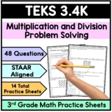 3.4K Multiplication and Division Word Problems -3rd Grade