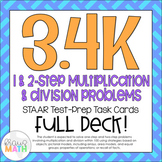 3.4K: Multiply & Divide Word Problems STAAR Test Prep Task