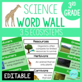 Living Systems: 3rd Grade Science Word Wall