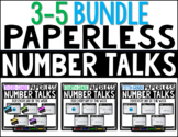 3-5 Bundle PAPERLESS Number Talks