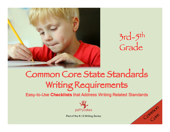 3-5 Common Core Writing Checklists - Writing & Language, multiple forms