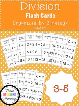 3-5 - Division Flash Cards by Strategy