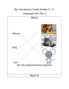 3-5 ELL Academic Vocabulary Cards