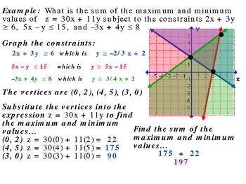 3-5 Linear Programming