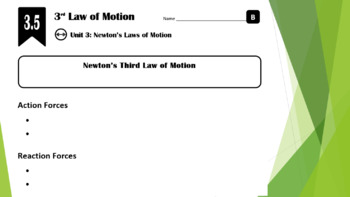Lesson 3.5 - Newton's 3rd Law of Motion (Force Pairs)