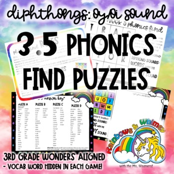 3.5 Phonics Find for Prefixes (aligned to 3rd Grade Wonders 3.5)