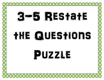 3-5 Restate the Questions Memory Game