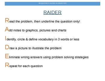 3-5 grade test taking poster for science