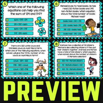 3.5A Math ★ ADD and SUBTRACT w/ MODELS ★ Math TEK 3.5A ★ 3rd Grade STAAR Review