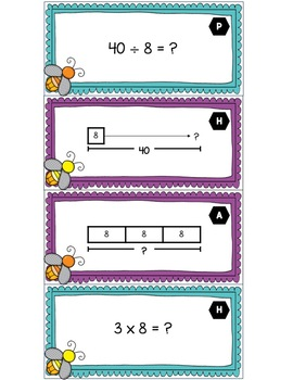 3.5B -Multiplication and Division Strip Diagrams & Equations - ENGLISH & SPANISH