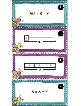 3.5B - Multiplication and Division Strip Diagrams and Equations - SPANISH ONLY