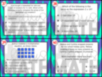 3.5C: Multiplication Expressions STAAR Test Prep Task Cards (GRADE 3)