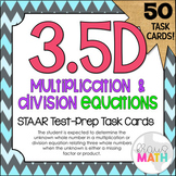 3.5D: Factors & Products in Equations STAAR Test Prep Task Cards (GRADE 3)