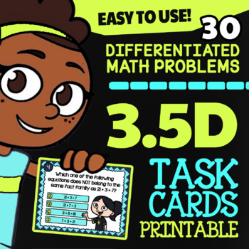 3.5D Missing Factors and Products ★ 3rd Grade TEKS Task Cards, STAAR Math Review