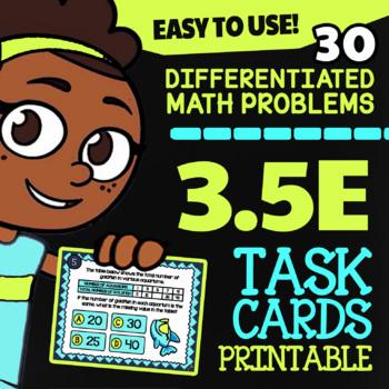 3.5E: Data in Tables ★ 3rd Grade TEKS Math Task Cards ★ STAAR Math 3rd Grade