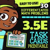 Math TEK 3.5E ★ Number Pairs ★ 3rd Grade Task Cards