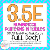 3.5E: Patterns in Tables STAAR Test Prep Task Cards (3.OA.9)