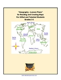 3 -5th Grade Geography Lesson Plans for Reading & Creating Maps- Gifted Students