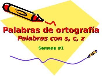 3-5th Grade Spanish Vocabulary - Week 1