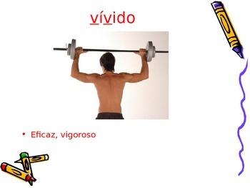 3-5th Grade Spanish Vocabulary - Week 2