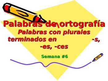 3-5th Grade Spanish Vocabulary - Week 6