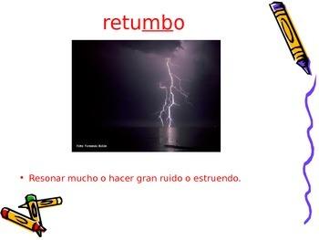 3-5th Grade Spanish Vocabulary - Week 9