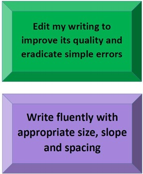 3-6 Literacy Continuum student writing goals