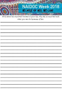 3-6 NAIDOC Writing Task 2018