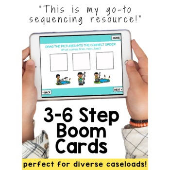 #jan21slpsgodigital 3-6 Step Sequencing Bundle NO PRINT Boom Cards