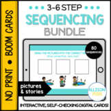 3-6 Step Sequencing Bundle BOOM Cards™️ Speech Therapy Distance Learning