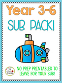 3-6 Substitute Teacher Pack *100+ Pages of Activities and Sub Binder Templates*